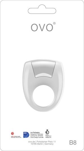 OVO B8 Vibrador Anillo Blanco-8518